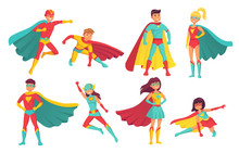 Cartoon Superhero Characters. ...