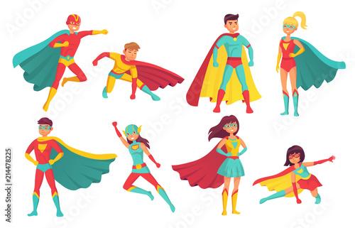 Fotografía Cartoon superhero characters