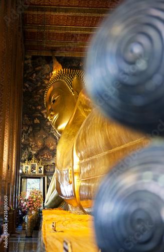 Photo  Liegender Buddha im Tempel Wat Pho, Bangkok, Thailand, Südostasien