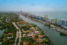 Miami Beach Aerials Indian Creek Coastal Scene
