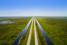 Aerial Florida Everglades Alligator Alley