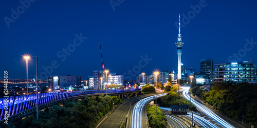 Auckland city skyline at night Canvas Print