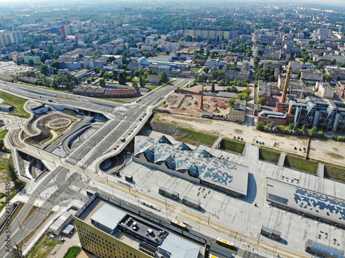 Fototapeta Łódź, Polska- widok na Dworzec Łódź Fabryczna obraz