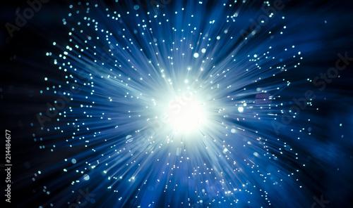 Obraz fiber optic showing data or internet communication concept - fototapety do salonu