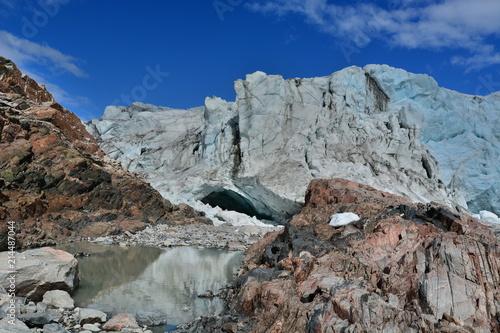Spoed Foto op Canvas Poolcirkel Greenland. Russell Glacier