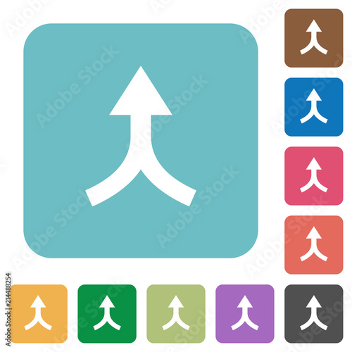 Merge arrows up rounded square flat icons Canvas Print