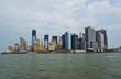 Südspitze Manhattans, Nachfolgebauten auf Ground Zero im Bau, New York City, New York, Vereinigte Staaten von Amerika, USA. Vor der Eröffnung des neuen OneWolrd Trade Center (2014)