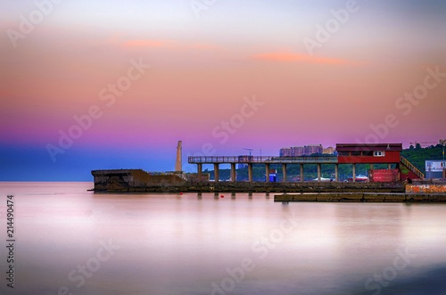Seascape during the sunset in the Odesa of Ukraine Poster