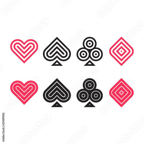 Photo Poker icon set