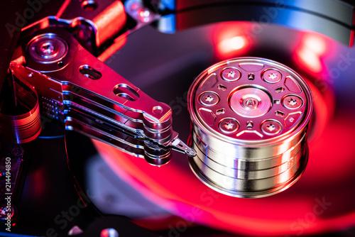 Canvas Print Hard drive disc, data storage