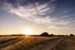 Schöner Sonnenuntergang auf dem Feld