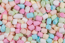 Colorful Marshmallows As Background