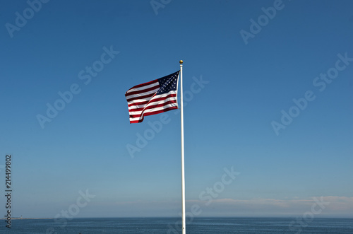 Valokuva  US-Flagge, Star Spangled Banner, Gloucester, Cape Ann, Bundesstaat Massachusetts
