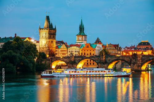 The Old Town Charles bridge tower in Prague Fototapet