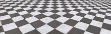 Schöner Marmorboden Im Schachbrettmuster,