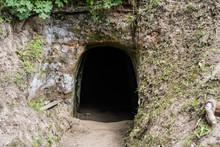 Small Cave In Mountain. Dark Enter.