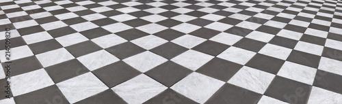 Vászonkép Schöner Marmorboden im Schachbrettmuster,