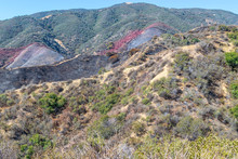 Landscape Left After Forest Fire In Southern California Mountains