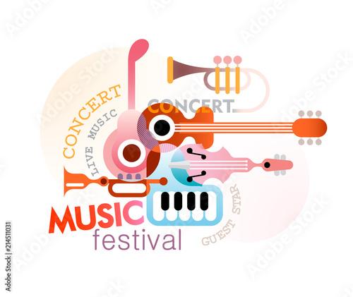 Foto auf Leinwand Abstractie Art Music Festival Design