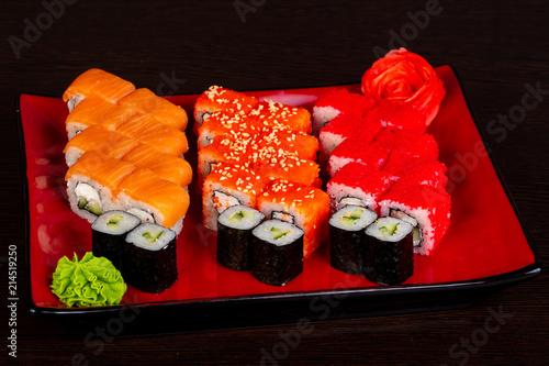Fototapeta Japanese roll set obraz