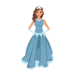 Princess costume cartoon vector illustration graphic design