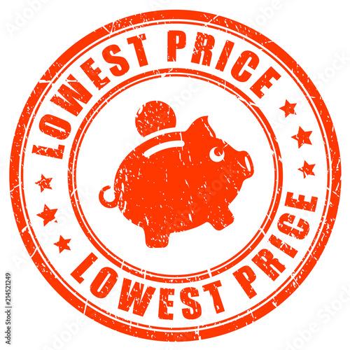 Cuadros en Lienzo Lowest price promise vector stamp