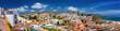 Leinwandbild Motiv White color houses in Nerja, Malaga Province