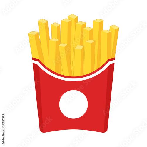 Carta da parati French fries cartoon clipart