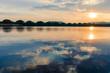 Sunrise in the Red Pine Lake of Ulan