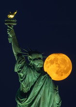 Statue Of Liberty Full Moon