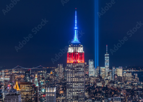 Manhattan Skyline and the Tribute Lights