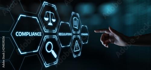 Obraz na plátně Compliance Rules Law Regulation Policy Business Technology concept