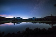 canvas print picture - Sparks Lake in Central Oregon Cascade Lakes Highway, a popular outdoors vacation destination