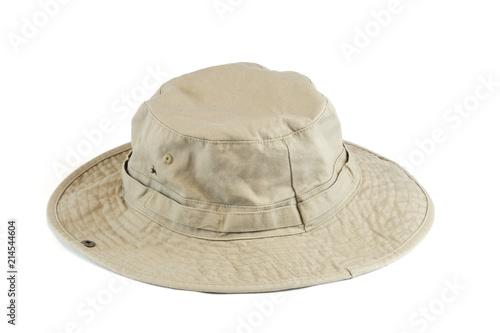 Tela close up cotton sun hat isolated on white background