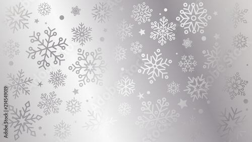 płatki śniegu tło wektor Canvas Print