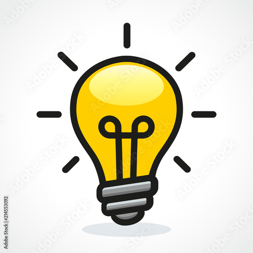 Fototapeta Vector light bulb design icon