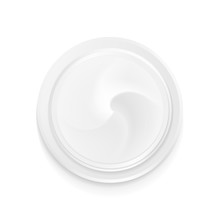 Top View Hygienic Cream. Illustration Isolated On White Background. Graphic Concept For Your Design