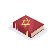 Flat Vector Icon Of Jewish Pra...