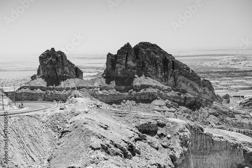 Photo View from the top of Jabel Hafeet mountain - UAE.