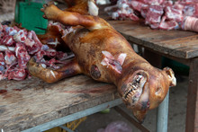 Dog Meat Sale In A Street Mark...