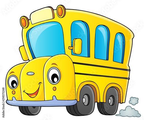 Poster Voor kinderen School bus thematics image 1