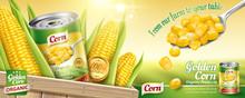Organic Canned Corn Ads