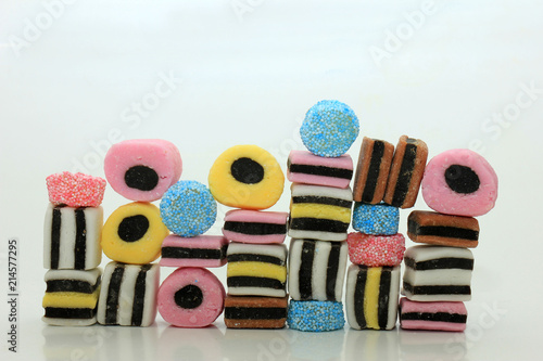 Stacked liquorice all sorts Wallpaper Mural
