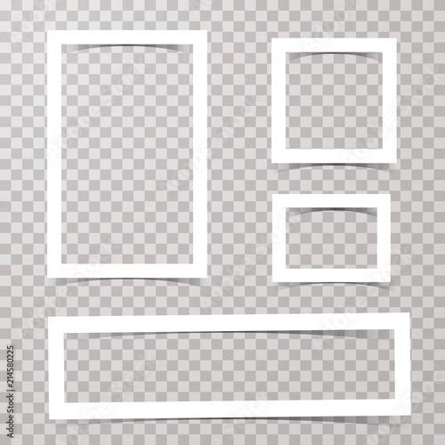 Fototapeta simple 4 white frames obraz na płótnie