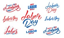 Labor Day. Set Of Lettering La...