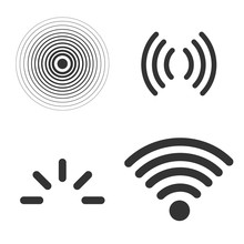 Signal Icons Vector Set Isolat...
