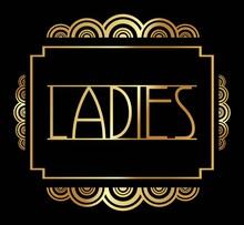Beautiful Art Deco Ladies/ Gents Hanger Vector Template