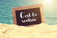 C'est La Rentrée (meaning Bac...