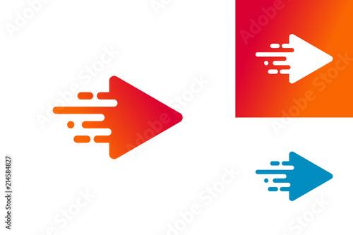 Fotografía Fast Play Logo Template Design Vector, Emblem, Design Concept, Creative Symbol,