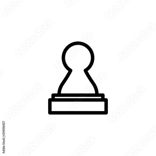 Fotografie, Obraz  Vector illustration of chess pawn icon. Black chess pawn
